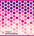 abstract background with pink hexagons vector image vector image