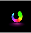abstract twist icon or symbol vector image