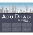 Abu Dhabi City Skyline with Gray Buildings vector image vector image