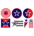 american patriotic signs symbols icons set vector image
