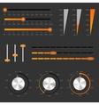 audio controls vector image