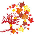 Autumn Leaves Fall vector image