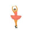 beautiful professional ballerina dancing classical vector image vector image
