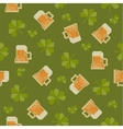 Big pixels styled St Partick day seamless pattern