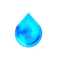 blue shiny water drop design vector image vector image