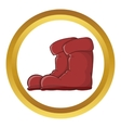 Boots icon vector image vector image