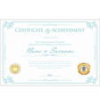 certificate or diploma retro template 2 vector image vector image