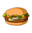 cheeseburger single icon in cartoon style vector image