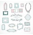 Collection of doodle frames for wedding vector image vector image
