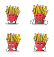 Collection stock french fries cartoon character