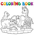 coloring book african fauna 2 vector image vector image