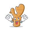 crazy ginger mascot cartoon style vector image vector image