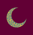 crescent arab pattern for eid mubarak ramadan vector image vector image