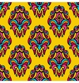 Damask festive yellow abstract seamless vector image vector image