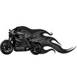 design motorcycle racing with fire vector image vector image