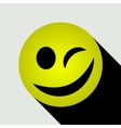 Emoticon winking icon vector image