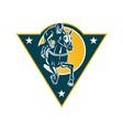 Equestrian Horse Racing Jockey Retro vector image vector image