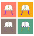 flat icon design collection ancient helmet vector image vector image