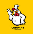 fried chicken logo vector image