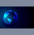 global technology earth banner digital background vector image vector image