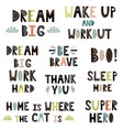 hand drawn quotes in scandinavian style set vector image vector image