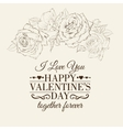 Happy holiday valntines card vector image vector image