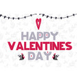 happy valentines day card in vector image