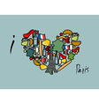 I Love Paris Traditional French national set of vector image vector image