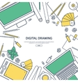 Line artGraphic web design Drawing and painting vector image