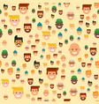 men head portrait seamless pattern friendship vector image vector image