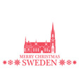 Merry Christmas Sweden vector image vector image
