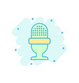 microphone icon in comic style mic broadcast vector image vector image