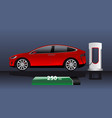 modern electric car vector image vector image