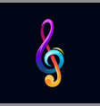 note music colorful rainbow logo icon illus vector image vector image