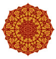 orange floral mandala vector image vector image