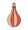 Pair of red boxing bag vector image