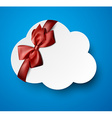 Paper white cloud note vector image vector image