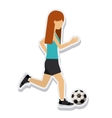 person figure athlete soccer sport icon vector image
