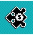 puzzle piece design vector image vector image