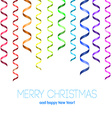 Rainbow serpentine pattern for congratulation vector image