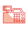 Register machine isolated icon