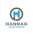 residential logo with letter h vector image