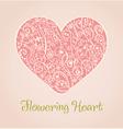 Romantic isolated ornamental heart vector image