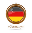 round medallion with the german flag inside vector image vector image
