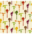 Seamless pattern of vegetables on fork vector image