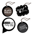 Set of black friday labels vector image