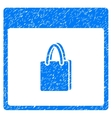 Shopping Bag Calendar Page Grainy Texture Icon vector image vector image
