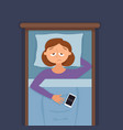sleepless woman face cartoon character suffers vector image vector image