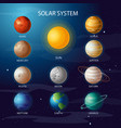 solar system all planets vector image vector image