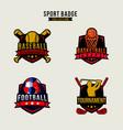 sport badge set graphic baseball vector image vector image